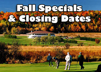 Fall Specials & Closings